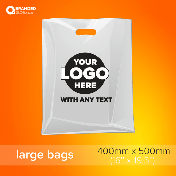 Printed Plastic Bags large size