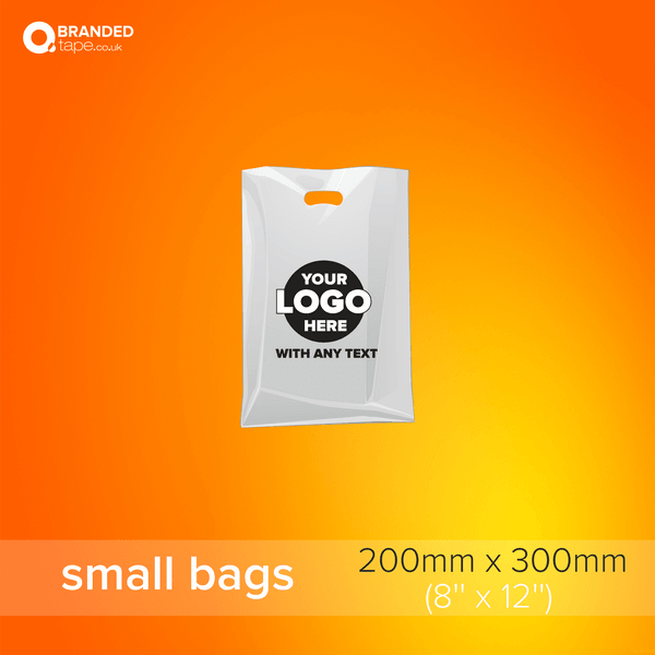 Small-200x300mm-Custom-Printed-Bags-with-Company-Logo-branded-tape-co-uk