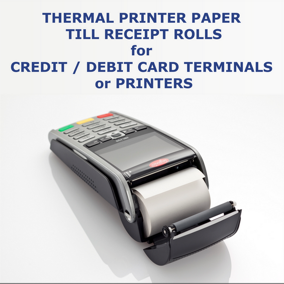credit card terminal thermal paper Replacement thermal receipt paper rolls for dejavoo z8 credit card terminals.